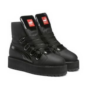 reasonably priced details for wholesale price Details about Puma Fenty x Rihanna Womens SB Eyelet sneaker boot platform  shoe 363040 01 black