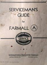 Farmall A International Harvester Tractor Shop Repair Service Manual Ih Farm