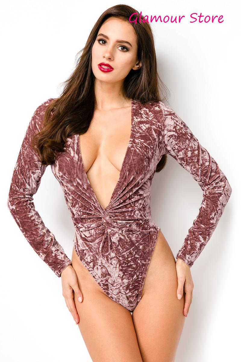 Sexy BODY SCOLLATO braun taglia S,M,L (40,42,44) elasticizzato maglia GLAMOUR