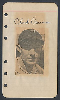 1920's Early NFL CHUCK DRESSEN Vintage Football Signed Album Page