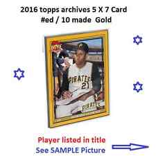 #102 Jonathan Lucroy Brewers 2016 Topps Archives 1979 GOLD versi 5x7 #ed/10 made
