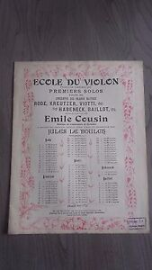 Scuola Del Violino Spartito Rode / Kreutzer/Viotti Piano J.Lee A Parigi 1905