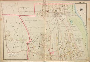 Fort Lee New Jersey Map.1913 G W Bromley Fort Lee Leonia Bergen County New Jersey Atlas Map