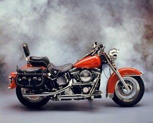 16x20 1954 Red Panhead Harley Davidson Vintage Motorcycle Bike Wall Art Print