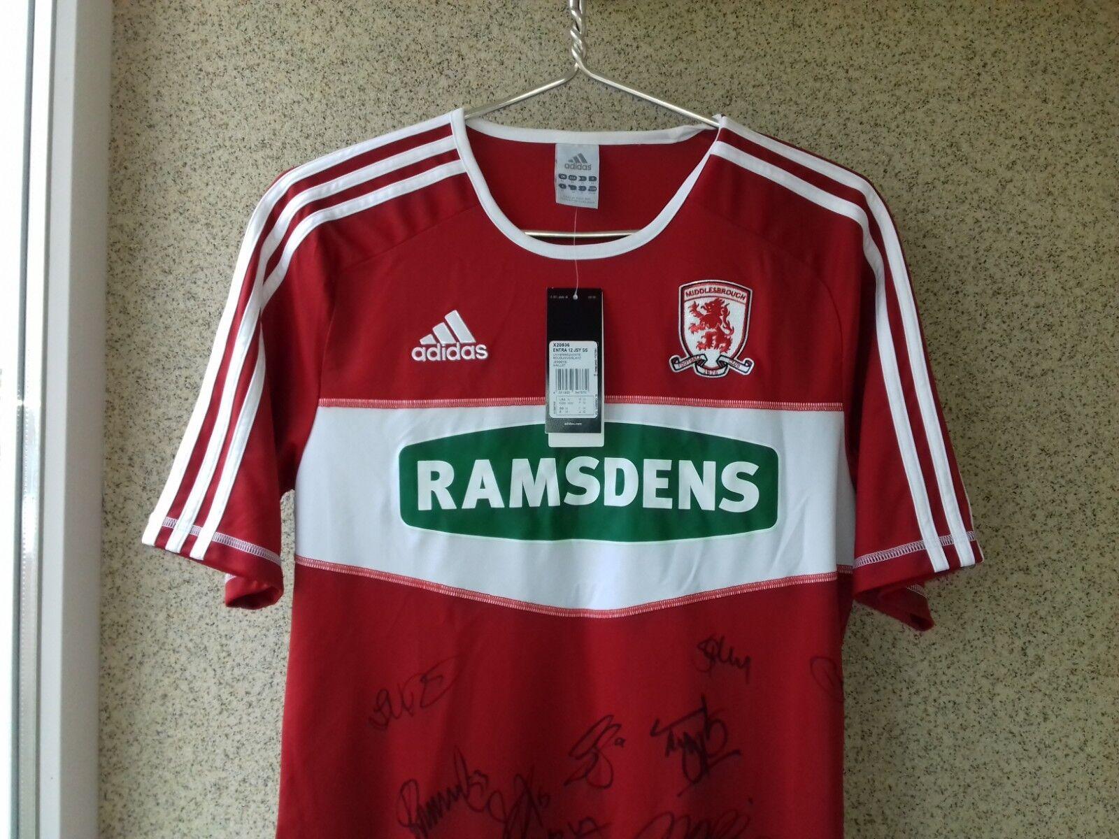 Middlesbrough firmado Hogar Hogar Hogar Camiseta De Fútbol 2012 2013 Jersey M Fútbol Inglaterra eb812f
