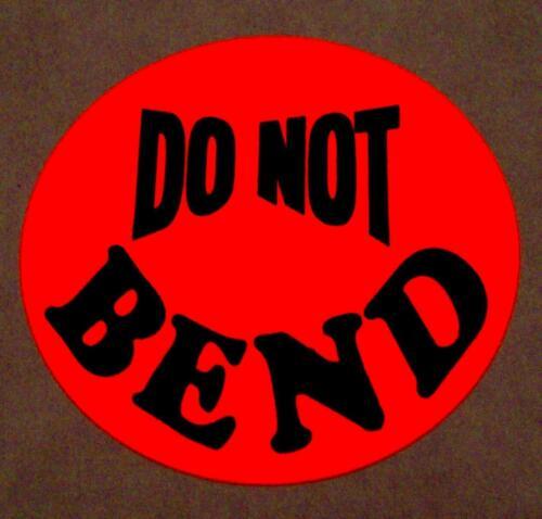"500 DO NOT BEND LABEL STICKER BIG 1 1//2 1.5/"" ROUND CIRCLE"