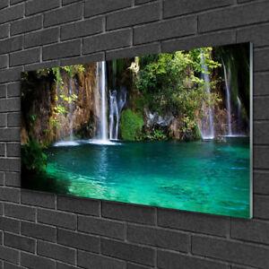 Glasbilder 100x50 Wandbild Druck auf Glas Wald See Natur