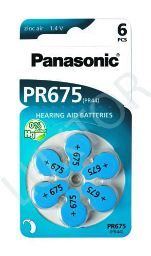 Hörgerätebatterien Zink-Luft Panasonic 30 x PR 675 Passend für Hörgerät Phonak