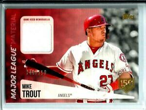 sale retailer 9939a bc3c4 Details about 2019 Mike Trout Topps Major League Material Game Used Jersey  D # 148/150 Angels