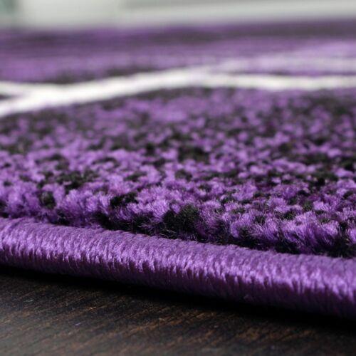 Designer Quality Rug Mottled Purple Black White Modern Soft Carpet Living room