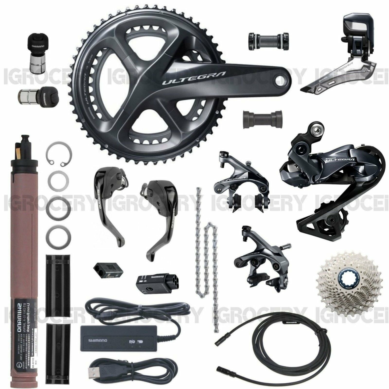 Shimano Ultegra R8060 DI2 T&T trial Upgrade GroupSet w  SW-R9160 New - 175mm