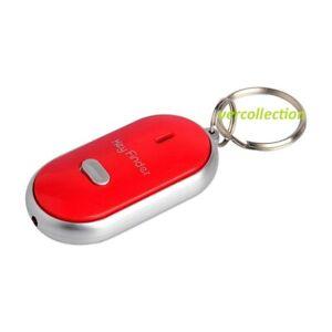 Porte-cles-siffleur-Anti-perte-Alarme-Localisateur-Key-Finder-Couleur-ROUGE