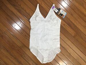 NWT-Sears-Slim-Shape-31845-Full-Body-Briefer-Shaper-Body-Suit-White-40C-C17-13