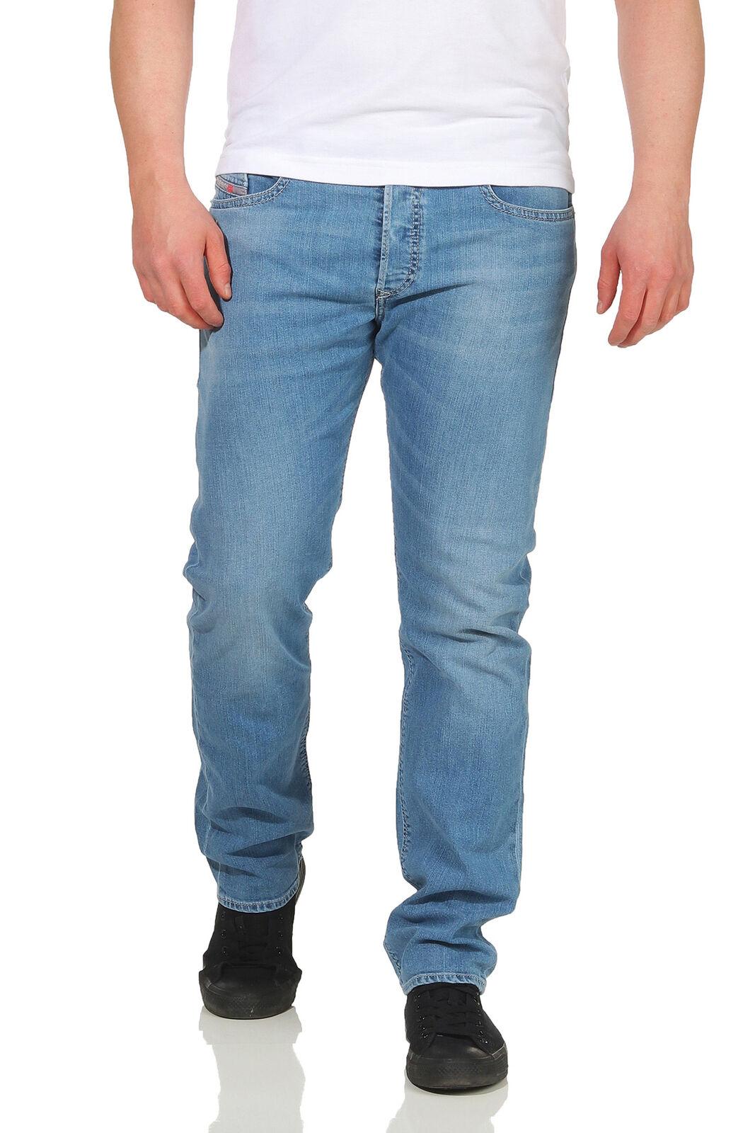 Diesel Jeans Buster Herren Hose Regular Slim Taperot Jeanshose Used Used Used Look Pant 1e3771