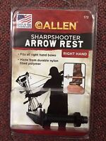Bow & Arrow Arrow Rest, Sharpshooter, For Right Hand Bows, Made In U.s.a.