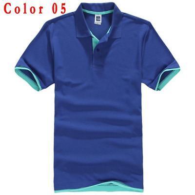 Cute Avocado Mens Short Sleeve Polo Shirt Regular Blouse Sportswear