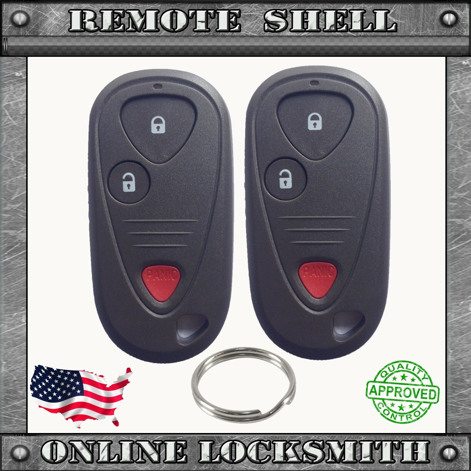 2 New Replacement Keyless Entry Remote Shell Case Fob For