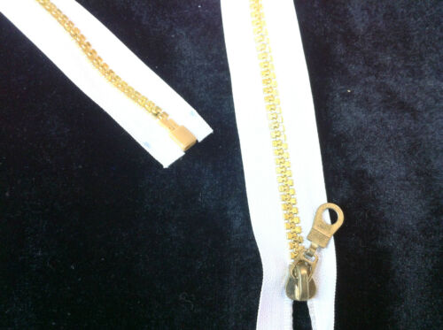 Metallisch Kunststoff Zähne Reißverschluss 66cm 66cm Lang Offene Enden,5