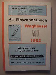 Einwohnerbuch Waghäusel 1982 Adressbuch - Eggenstein-Leopoldshafen, Deutschland - Einwohnerbuch Waghäusel 1982 Adressbuch - Eggenstein-Leopoldshafen, Deutschland