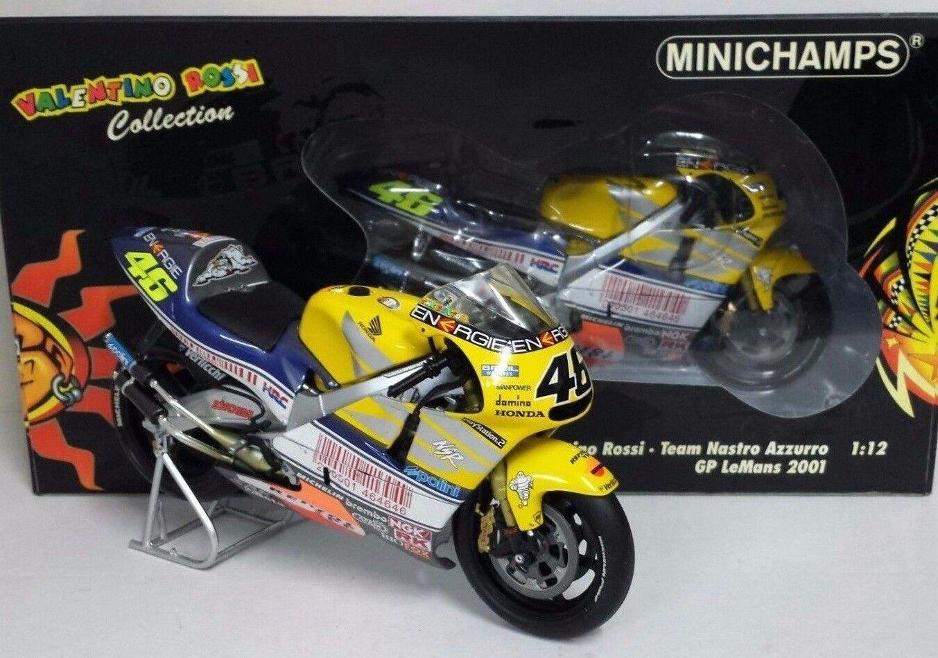 MINICHAMPS 016176  HONDA NSR500 Valentino Rossi Team Nastro Azzurro GP 2001 1 12  magasin discount