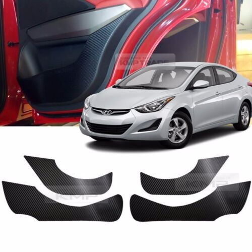 Carbon Door Decal Sticker Cover Kick Protector For HYUNDAI 2011-2016 Elantra MD