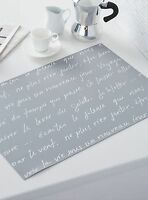 2 French Cafe Paris Style Theme Table Place Mats Kitchen Home Word Decor Writing