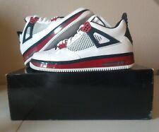 Nike Air Jordan Fusion AJF 4 White/Varsity Red-Black 364342 161 SZ 10