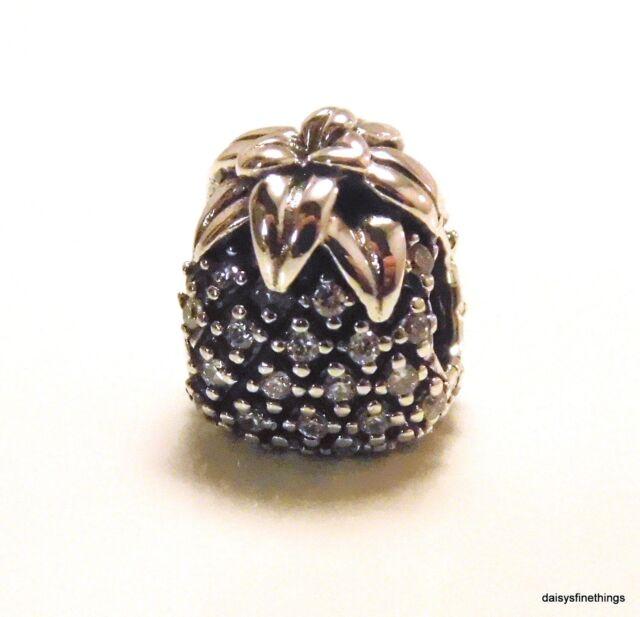 3a0dce96e Authentic PANDORA S925 Sparkling Pineapple Charm 791293CZ W Suede Pouch