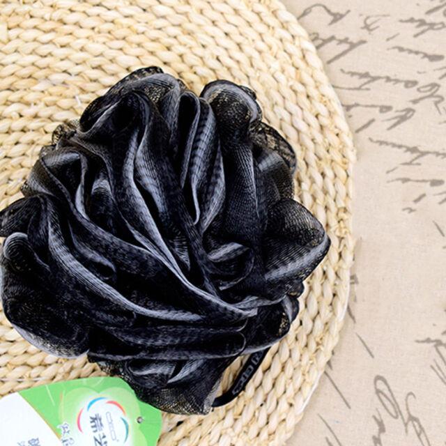 Luxury Loofah Black Shower Pouf Bath Product Luffa Sponge Exfoliating Mesh  Pouf