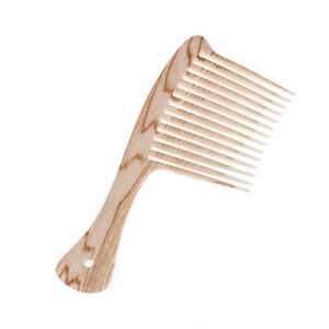 Plastic-Wide-Tooth-Comb-Natural-Wood-Massage-Beauty-Hair-Care-Salon-HairdrLA