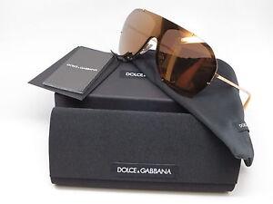 fa59925b23d6 New Authentic Dolce   Gabbana DG 2162 02 F9 Gold w Brown Mirror Gold ...