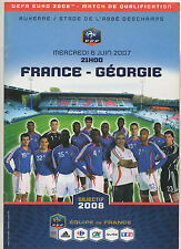Orig.PRG   EM Qualifikation  06.06.2007    FRANKREICH - GEORGIEN  !!  SELTEN