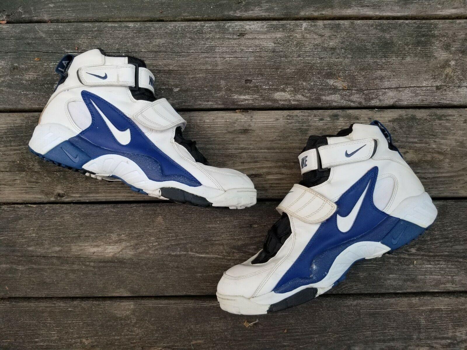 Vintage 1996 Nike Footbtutti Turf bianca blu sautope Dimensione 13 521009-112 CRAZY guarda  Sautope classeiche da uomo