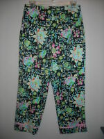 Bamboo Traders Cotton Spandex Multi Color Side Zip Crops Capris Sz. 6