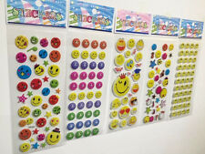 wholesale!Children favorite StereoscopicPVC Stickers gift-SMILE FACE-Lot Of 5pcs