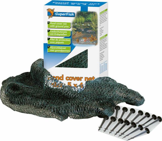 10 Erdspieße Teichschutz Schutz Laubnetz Superfish Laubschutznetz 3x2m inkl