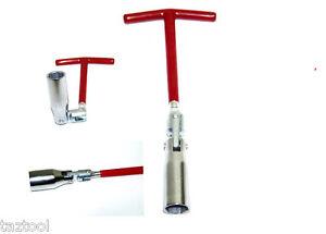 T-handle Spark Plug Socket H HILABEE 13//16 Inch Flexible T-bar Socket Wrench 21mm