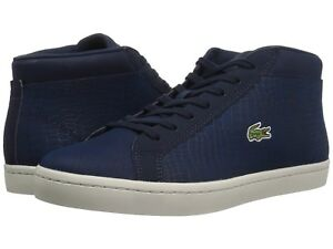 Lacoste-Straightset-SP-417-1-Men-Shoes-Sneaker-Navy-Leather-10-0US-NIB