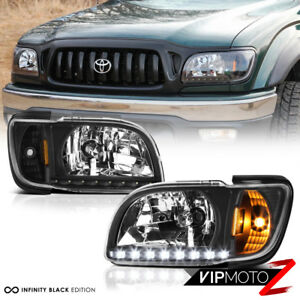Image Is Loading Jdm Black 1pc Led Headlight L R 2001 2004