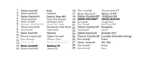 """100 stück Kugelschreiber /""""Cosima/"""" in 26 Farben  mit Lasergravur"""