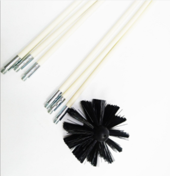 Bendable Chimney Pipe Cleaner Brush Boiler Dryer Sweep Cleaning Tool