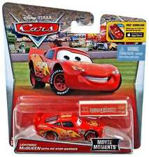 Disney Pixar Cars Movie Moments Lightning Mcqueen with pit stop barrier 1:55