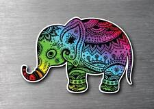 Elephant colourful sticker 7 year water & fade proof vinyl laptop ipad car