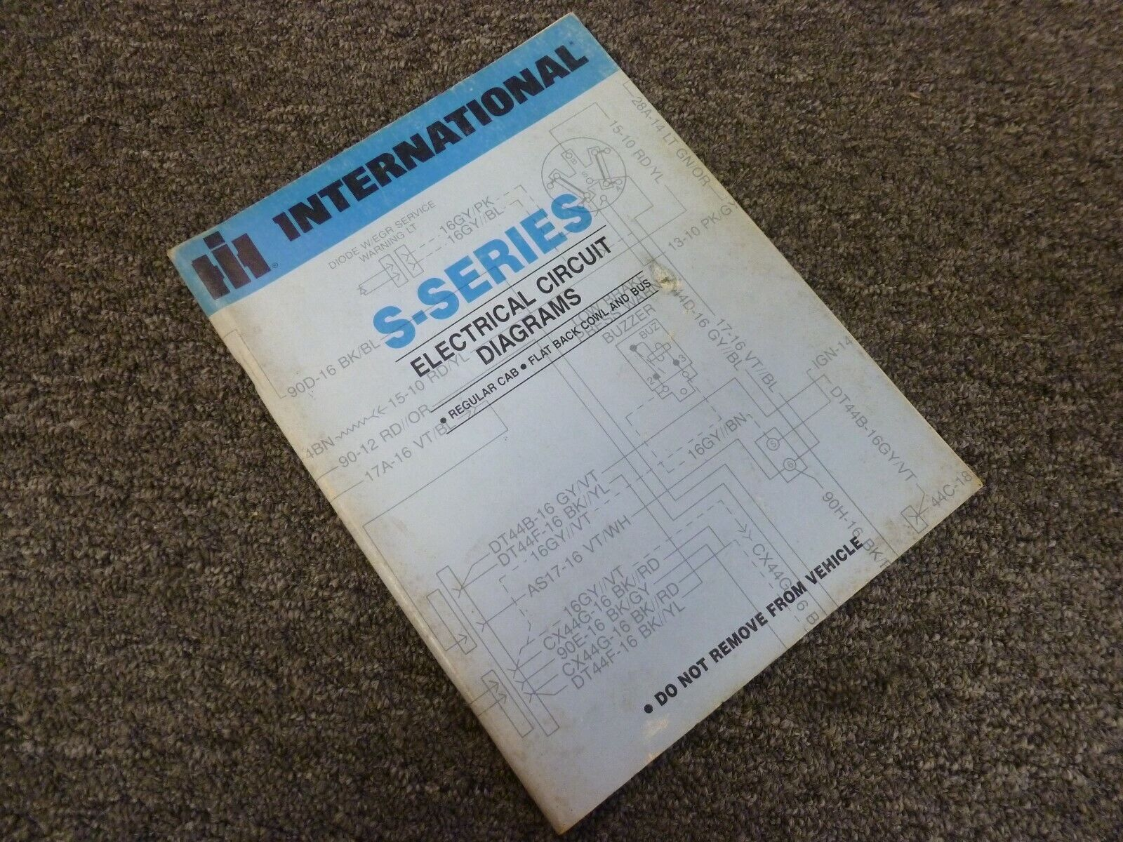 1981 international 2574 2575 2674 truck electrical wiring diagrams manual    ebay  ebay