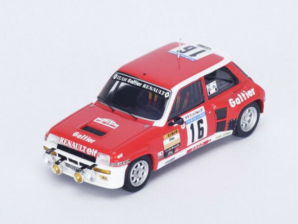 Spark Model 1 43 SF100 Renault 5 5 5 Turbo  16 Tour de Corse 1981 Saby Le Saux NEW 80282a