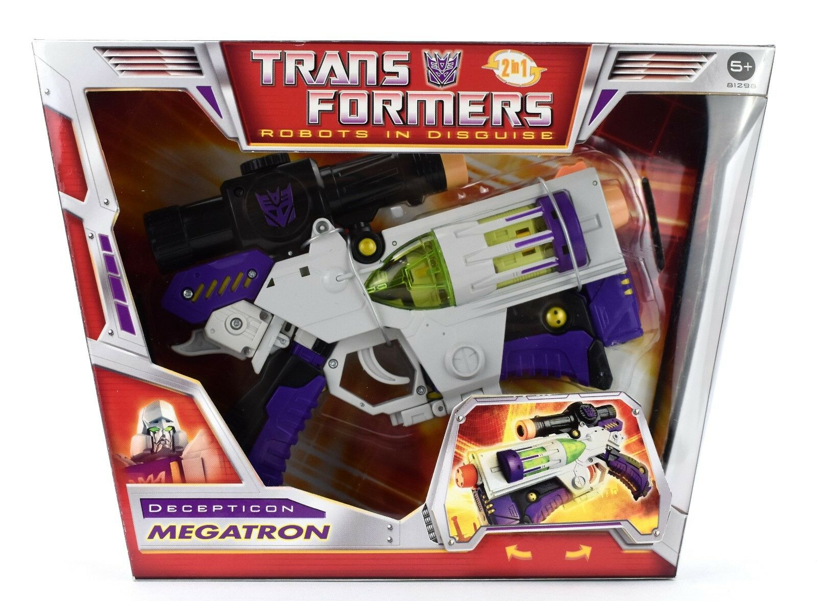 Transformers Robots In Disguise 2 in 1-MEGATRON Voyager Action Figure Set
