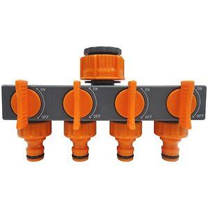 4-WAY-GARDEN-TAP-CONNECTOR-SPLITTER-SHUT-OFF-VALVE-1-TAP-TO-4-WATER-HOSE-ADAPTOR