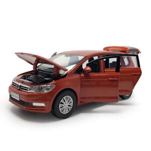 All-New-Touran-L-MPV-1-32-Die-Cast-Modellauto-Spielzeug-Kinder-Sammlung-Orange