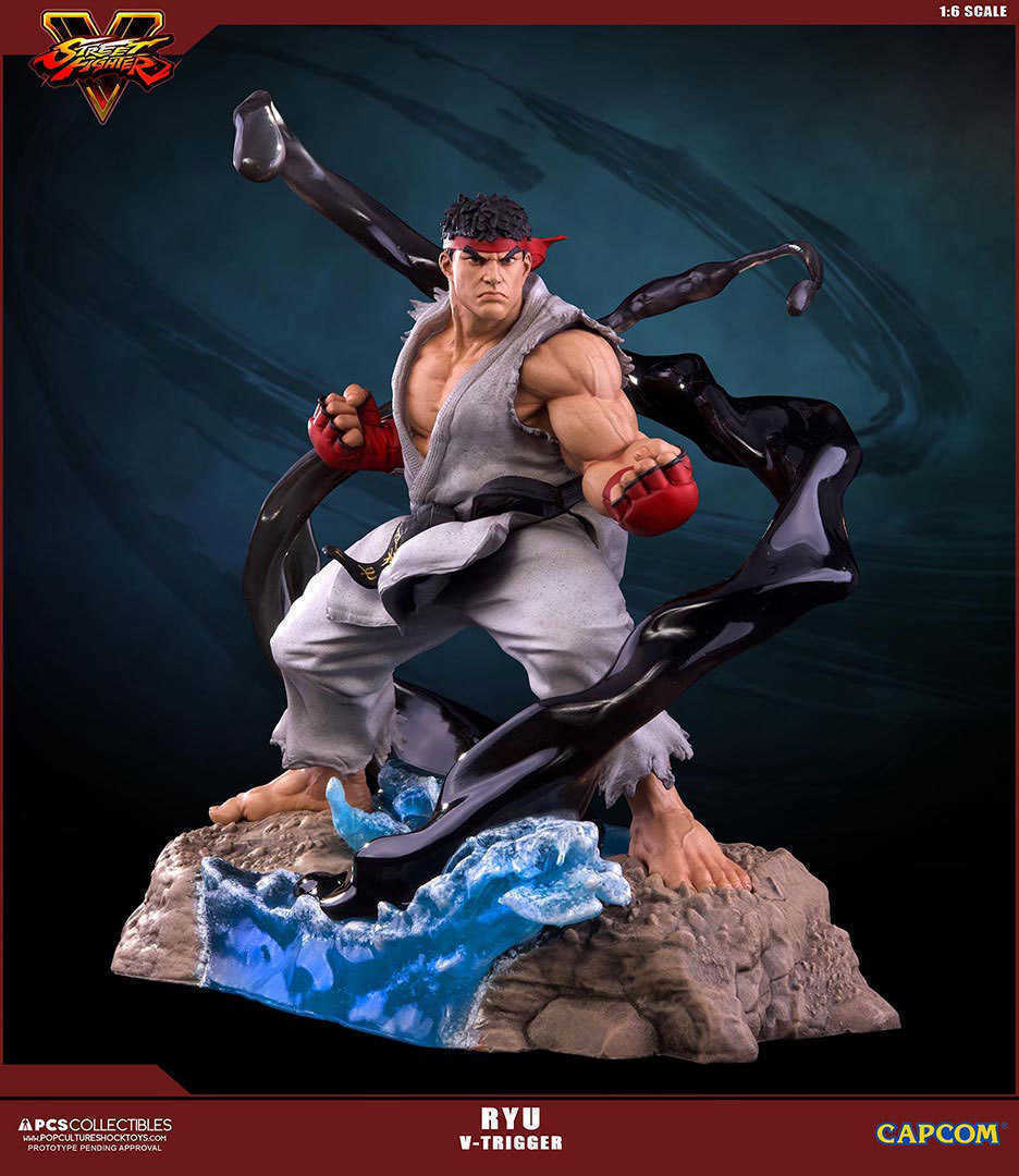 Street Fighter V Statue 1 6 Ryu V-Trigger 32 cm Pop Culture Shock