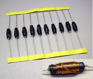 10-Stueck-Drosseln-Funkentstoerdrosseln-33-H-300-V-Guete-1-8-M3310